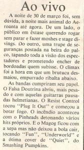 Recorte do jornal Gazeta do Povo