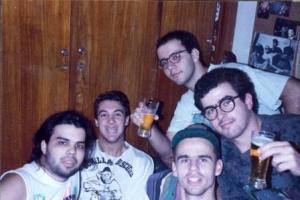 Laércio, Dudu, Cláudio, Paulo e Júlio