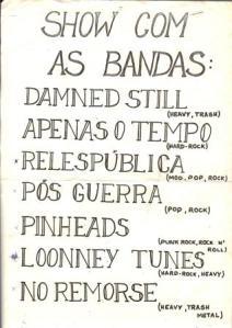 Em cima da hora, mudança de nome: PINHEADS
