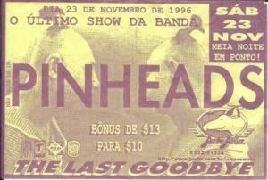Flyer do último show