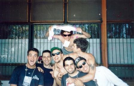 Dudu, Atibaia (Safari), Paulo, Robério, Nervoso, Cláudio e Laércio. Junta tribo 94