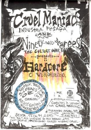 Surpresa ao ver o nome da banda no cartaz!