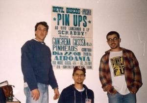 Dudu, Paulo e Júlio - Flyer do primeiro show fora de Curitiba.