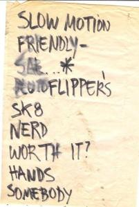 Pinheads Set_list_Lizards_1