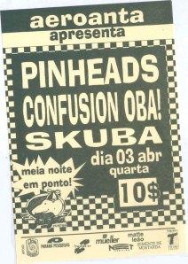 Flyer do único show do primeiro semestre de 1996